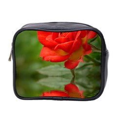 Rose Mini Travel Toiletry Bag (Two Sides)