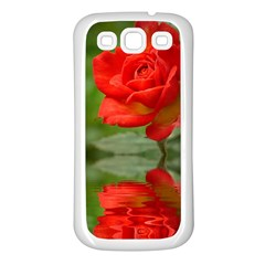 Rose Samsung Galaxy S3 Back Case (white)