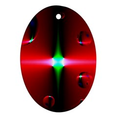 Magic Balls Oval Ornament (Two Sides)