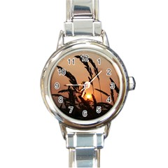 Sunset Round Italian Charm Watch