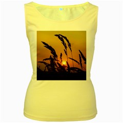 Sunset Womens  Tank Top (Yellow)