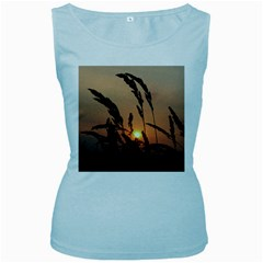 Sunset Womens  Tank Top (Baby Blue)