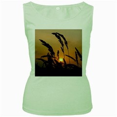 Sunset Womens  Tank Top (Green)