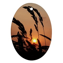 Sunset Oval Ornament (two Sides)