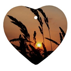 Sunset Heart Ornament (Two Sides)