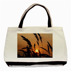 Sunset Twin Sided Black Tote Bag