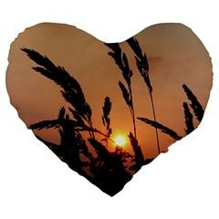 Sunset 19  Premium Heart Shape Cushion