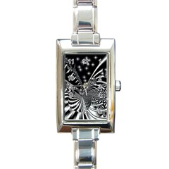 Space Rectangular Italian Charm Watch