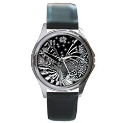 Space Round Metal Watch (Silver Rim)