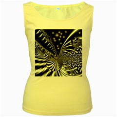 Space Womens  Tank Top (Yellow)
