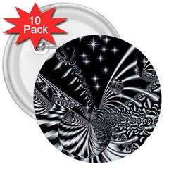 Space 3  Button (10 pack)
