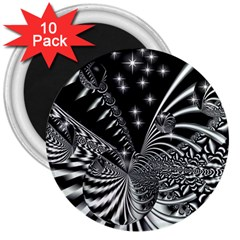 Space 3  Button Magnet (10 pack)