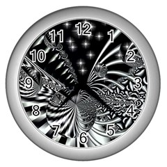 Space Wall Clock (Silver)