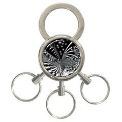 Space 3-Ring Key Chain