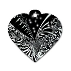 Space Dog Tag Heart (Two Sided)