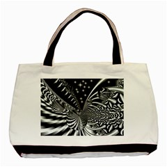 Space Twin Sided Black Tote Bag