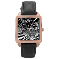 Space Rose Gold Leather Watch