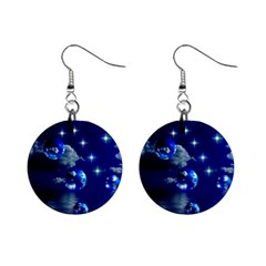 Sky Mini Button Earrings