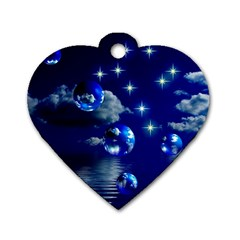 Sky Dog Tag Heart (Two Sided)