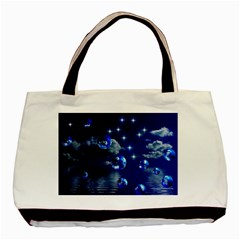 Sky Twin-sided Black Tote Bag