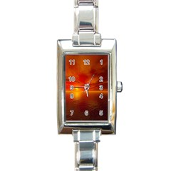 Sunset Rectangular Italian Charm Watch