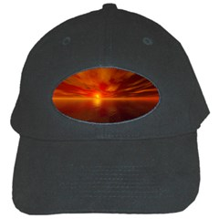 Sunset Black Baseball Cap