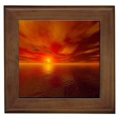 Sunset Framed Ceramic Tile