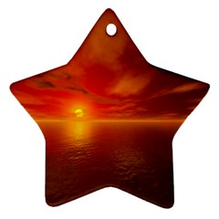 Sunset Star Ornament