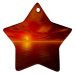 Sunset Star Ornament Front