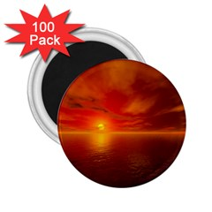 Sunset 2.25  Button Magnet (100 pack)