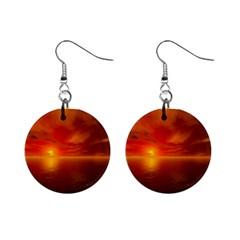 Sunset Mini Button Earrings