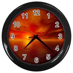 Sunset Wall Clock (Black)