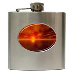 Sunset Hip Flask