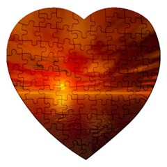 Sunset Jigsaw Puzzle (heart)