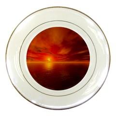 Sunset Porcelain Display Plate