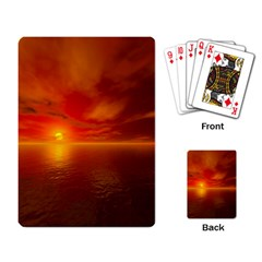 Sunset Playing Cards Single Design