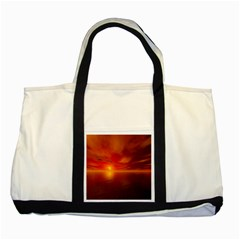 Sunset Two Toned Tote Bag