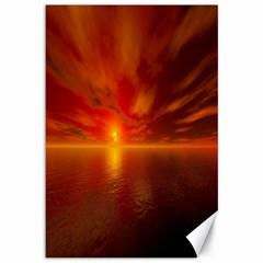 Sunset Canvas 12  x 18  (Unframed)