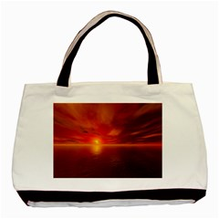 Sunset Twin-sided Black Tote Bag