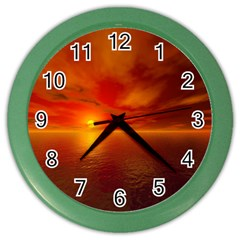 Sunset Wall Clock (color)