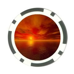 Sunset Poker Chip