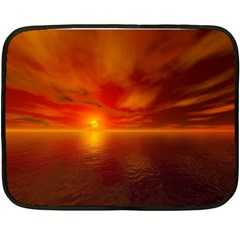 Sunset Mini Fleece Blanket (Two Sided)