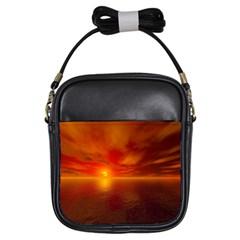 Sunset Girl s Sling Bag