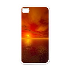 Sunset Apple Iphone 4 Case (white)