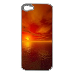 Sunset Apple iPhone 5 Case (Silver)