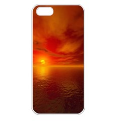 Sunset Apple iPhone 5 Seamless Case (White)