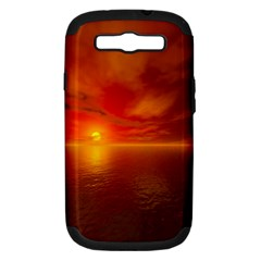 Sunset Samsung Galaxy S III Hardshell Case (PC+Silicone)