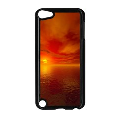 Sunset Apple iPod Touch 5 Case (Black)
