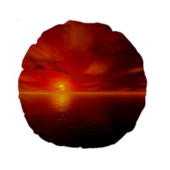 Sunset 15  Premium Round Cushion