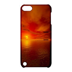 Sunset Apple iPod Touch 5 Hardshell Case with Stand